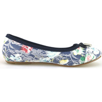 Chaussures Fille Ballerines / babies Enrico Coveri chaussures fille  ballerines bleu textile AG242 bleu