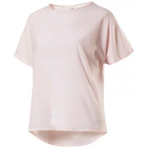 c416238fe7 Vêtements Femme T-shirts & Polos Puma T-SHIRT FEMME EXPLOSIVE TOP / ROSE