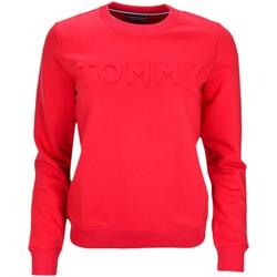 Vêtements Femme Sweats Tommy Hilfiger Sweat col rond  Logo gaufré rouge pour femme Rouge