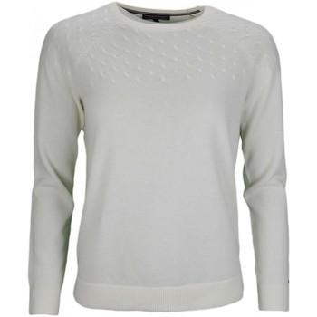 Vêtements Femme Pulls Tommy Hilfiger Pull col rond  en laine blanc pour femme Blanc