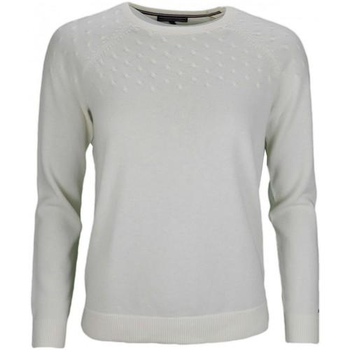 grossiste 44d8f dbe67 Pull col rond en laine blanc pour femme