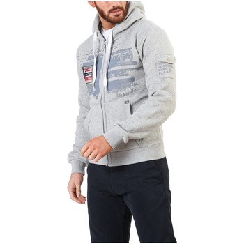 Vêtements Homme Pulls Geographical Norway - Sweat zippé homme Fohnson gris chiné Gris