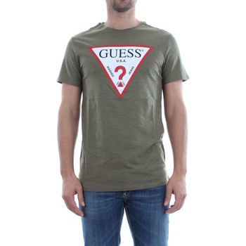 Vêtements Homme T-shirts manches courtes Guess M82I42 K4Y10 ORIGINAL TEE T-SHIRT Homme GREEN GREEN