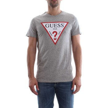 Vêtements Homme T-shirts manches courtes Guess M82I42 K4Y10 ORIGINAL TEE T-SHIRT Homme GREY HEATHER GREY HEATHER