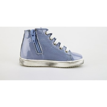 Chaussures Fille Baskets mode Mariella Burani chaussures fille  sneakers lilla cuir verni AG381 pourpre
