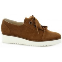 Chaussures Femme Derbies Vidi Studio Derby cuir velours Cognac