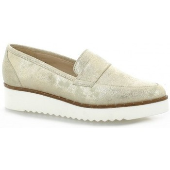 Vidi Studio Mocassins cuir laminé Platine - Chaussures Mocassins Femme