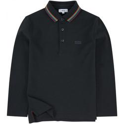 Vêtements Garçon Polos manches longues HUGO Polo Hugo Boss - Ref. J25B83-849 Noir
