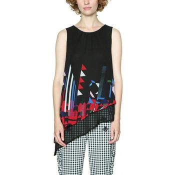 Vêtements Femme Tops / Blouses Desigual T Shirt Lauretta Noir 18SWBW75 38