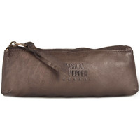 Sacs Femme Trousses Basilic Pepper Trousse cuir COW 16C-00BCOW92 DARK BROWN