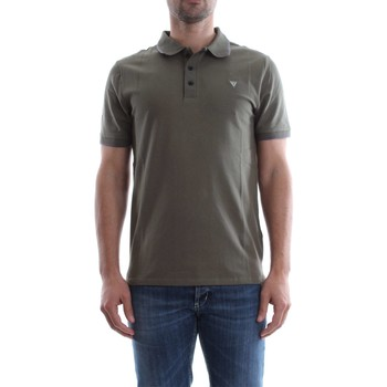 Vêtements Homme Polos manches courtes Guess M82P03 K4KV0 RONALD POLO Homme GREEN GREEN