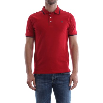 Vêtements Homme Polos manches courtes Guess M82P03 K4KV0 RONALD POLO Homme RED RED