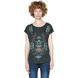 Vêtements Femme T-shirts manches courtes Desigual T Shirt Gladys Grafito Gris foncé 18SWTKBA 35