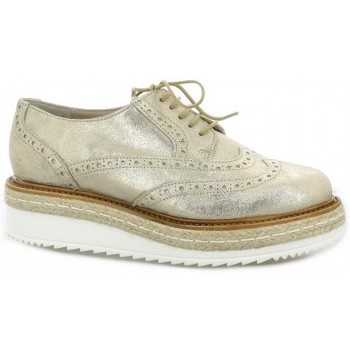 Chaussures Femme Derbies Pao Derby cuir laminé Or