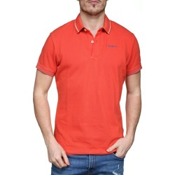 Vêtements Homme Polos manches courtes Pepe jeans Angelico Pm540987 Rouge