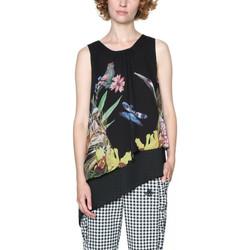 Vêtements Femme Tops / Blouses Desigual T Shirt Antonella Noir 18SWBW80 38