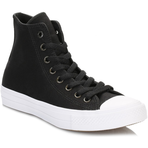 Converse All Star Chuck Taylor II Black Hi Top Trainers Converse_968 - Chaussures Basket montante