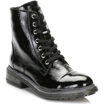 Chaussures Femme Bottes ville Tower Footwear Tower Womens Black Patent Leather Ankle Boots Tower_91