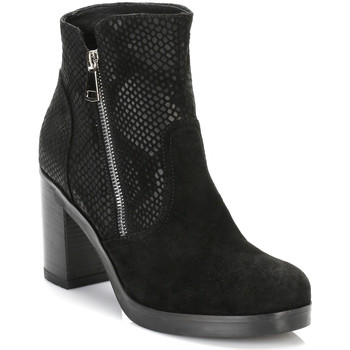 Chaussures Femme Bottines Tower Footwear Tower Womens Black Mesh Suede Ankle Boots Tower_96