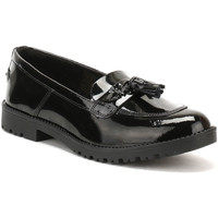 Kickers Womens Black Patent Leather Lachly Tass Loafers Kickers_2565 - Chaussures Mocassins Femme