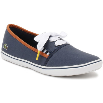 Lacoste Womens Navy Fabian 117 2 CAW Slip On Flats Lacoste_492 - Chaussures Baskets basses Femme