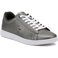 Chaussures Femme Baskets basses Lacoste Womens Black Carnaby EVO 317 4 Trainers Lacoste_530