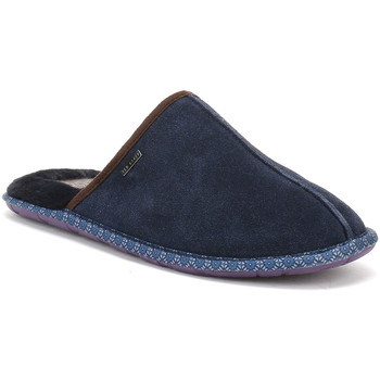Chaussures Garçon Chaussons bébés Ted Baker Mens Dark Blue Suede Youngi 2 Slippers Ted Baker_430