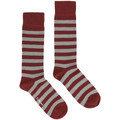 Dr Martens Dr. Martens Grey / Cherry Red Thin Stripe Socks