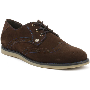 Chaussures Garçon Richelieu Penguin Mens Brown/Diva Blue Linco Suede Shoes Penguin_8