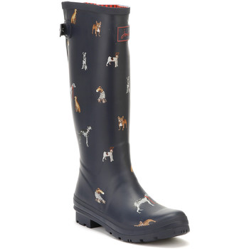 Chaussures Femme Boots Joules Womens French Navy Cosy Dogs Ajusta Welly  Boots Joules_337