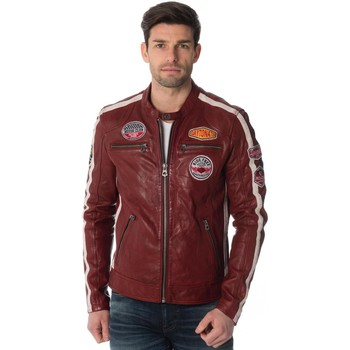 Vêtements Homme Vestes en cuir / synthétiques Daytona 73 OLIVER SHEEP ATLAS VEG RED Rouge