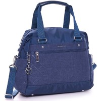 Sacs Femme Cabas / Sacs shopping Hedgren SAC A MAIN BANDOULIERE POLYESTER FINITIONS CUIR Bleu marine