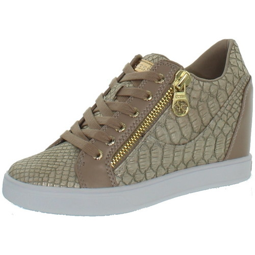 Guess Baskets  ref_guess42691-beige Beige - Chaussures Baskets basses