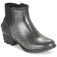 Chaussures Femme Boots Sorel JANEY CHELSEA Noir / Argent