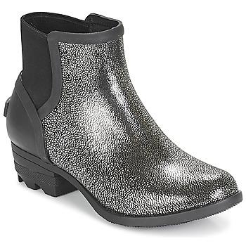 Chaussures Femme Boots Sorel JANEY™ CHELSEA Noir / Argent