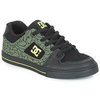 Chaussures Enfant Baskets basses DC Shoes PURE SE B SHOE BK9 Noir / Vert