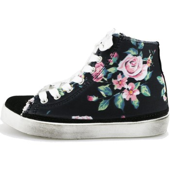 Chaussures Fille Baskets mode 2 Stars chaussures fille  sneakers noir textile daim AG547 noir