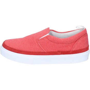 Chaussures Bark slip on rouge corallo textile daim AG583