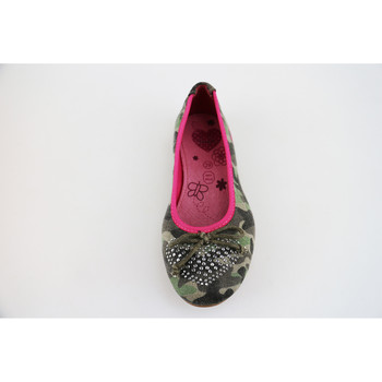 Chaussures Fille Ballerines / babies Lulu ballerines vert toile AG640 vert