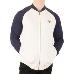 Vêtements Homme Vestes Lyle & Scott Homme Sweat-shirt Bomber, Blanc blanc