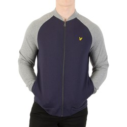 Vêtements Homme Vestes Lyle & Scott Homme Sweat-shirt Bomber, Bleu bleu