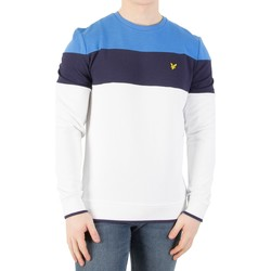 Vêtements Homme Pulls Lyle & Scott Homme Casuals Block Stripe Sweatshirt, Blanc blanc