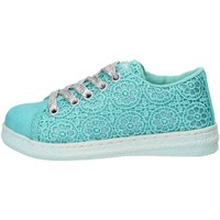 Chaussures Fille Baskets mode Lulu' chaussures fille LULU' sneakers celeste textile AG656 bleu