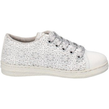 Chaussures Fille Baskets mode Lulu sneakers blanc textile AG658 blanc