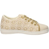 Chaussures Fille Baskets mode Lulu' chaussures fille LULU' sneakers or textile beige AG659 or