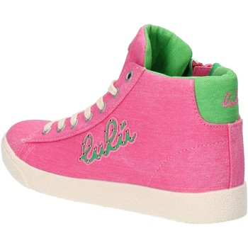 Chaussures Fille Baskets montantes Lulu' chaussures fille LULU' sneakers rose toile AG660 rose