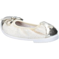 Chaussures Fille Ballerines / babies Lelli Kelly ballerines beige textile platino cuir AG673 beige
