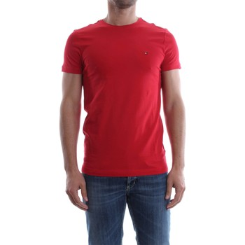 Vêtements Homme T-shirts manches courtes Tommy Hilfiger MW0MW04162 STRETCH SLIM FIT TEE T-SHIRT Homme RED RED