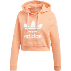 Vêtements Femme Sweats adidas Originals Sweat-shirt à capuche Trefoil Cropped orange