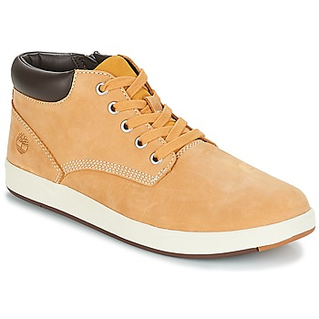 Chaussures Enfant Boots Timberland DAVIS SQUARE LEATHER CHK Jaune